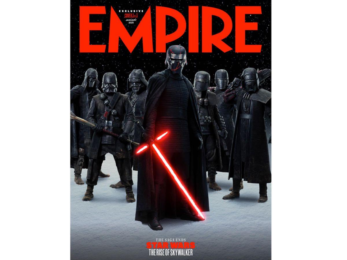Okładka magazynu Empire promująca film Gwiezdne wojny Skywalker Odrodzenie