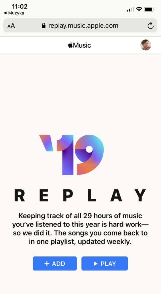 Replay Apple Music strona