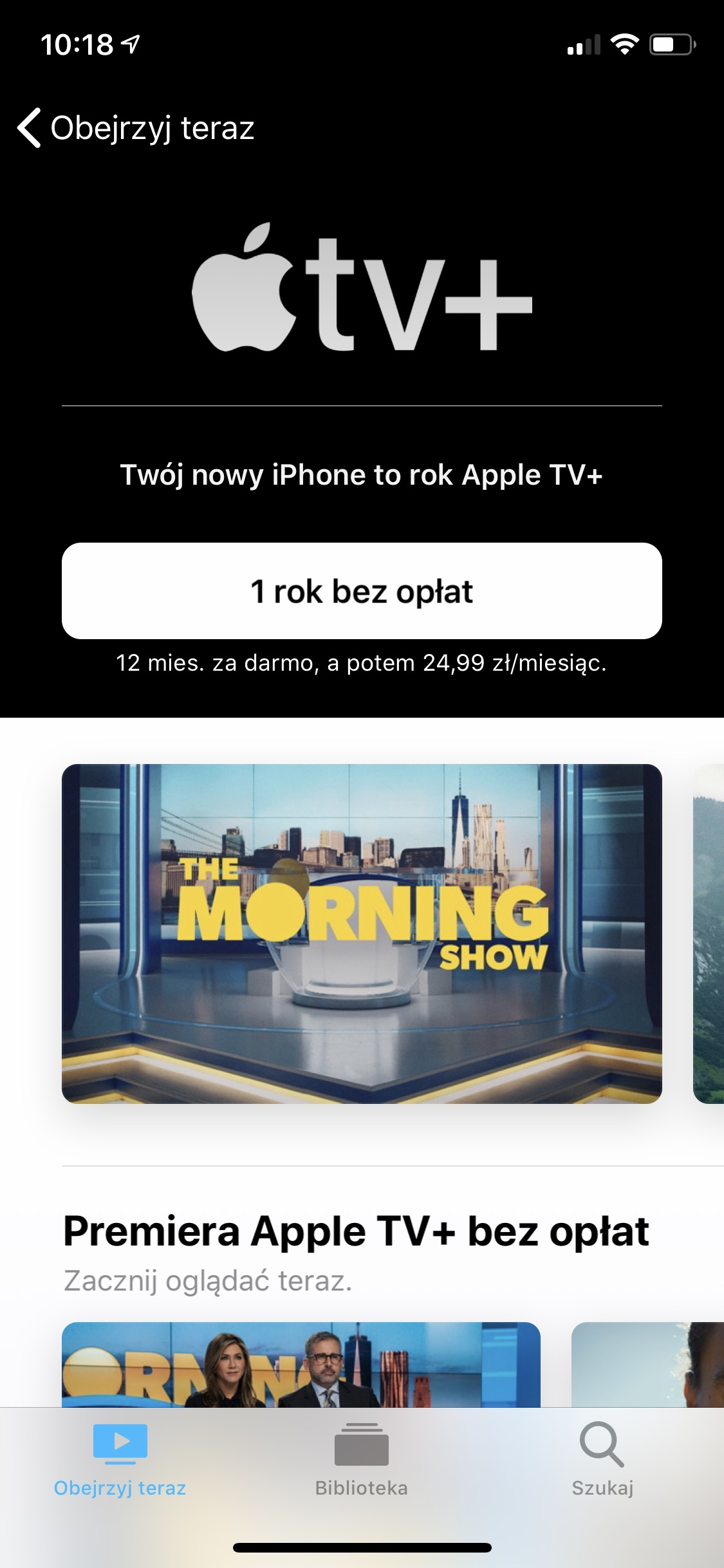 apple tv plus za darmo