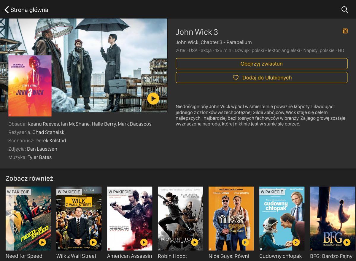 Cineman.pl - strona o John Wick 3
