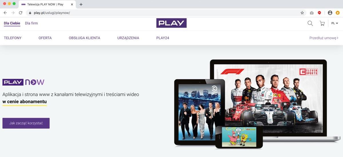 Play Now - zajawka usługi