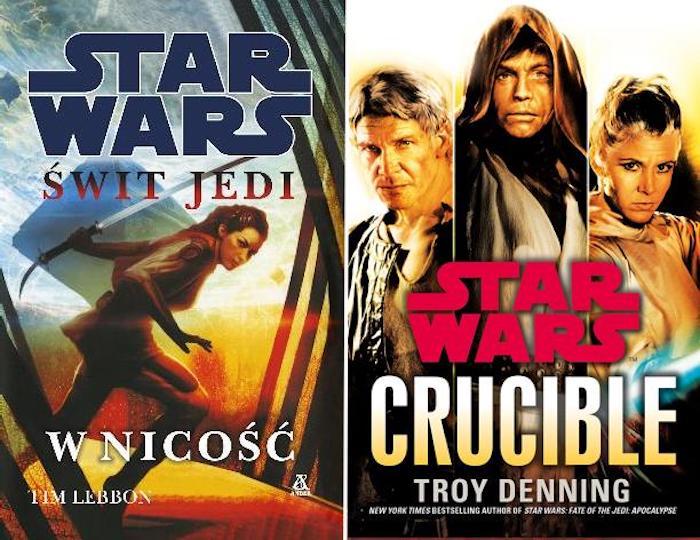 jak czytać książki star wars kolejność chronologia legendy expanded universe 14 swit jedi w nicosc tim lebbon the dawn of the jedi 15 crucible troy denning