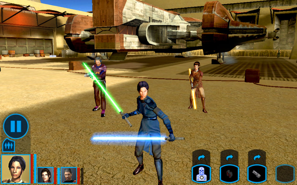 Kadr z gry Knights of the Old Republic