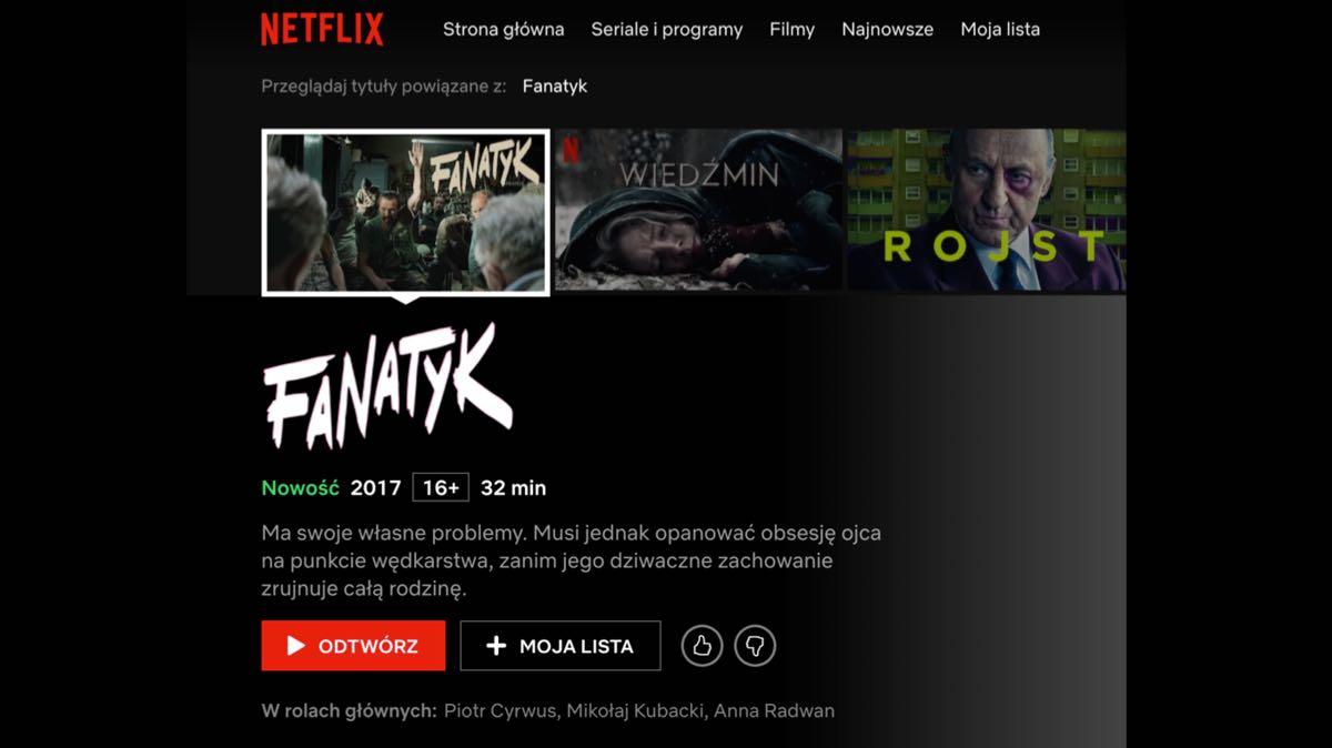Fanatyk dostępny na Netflix