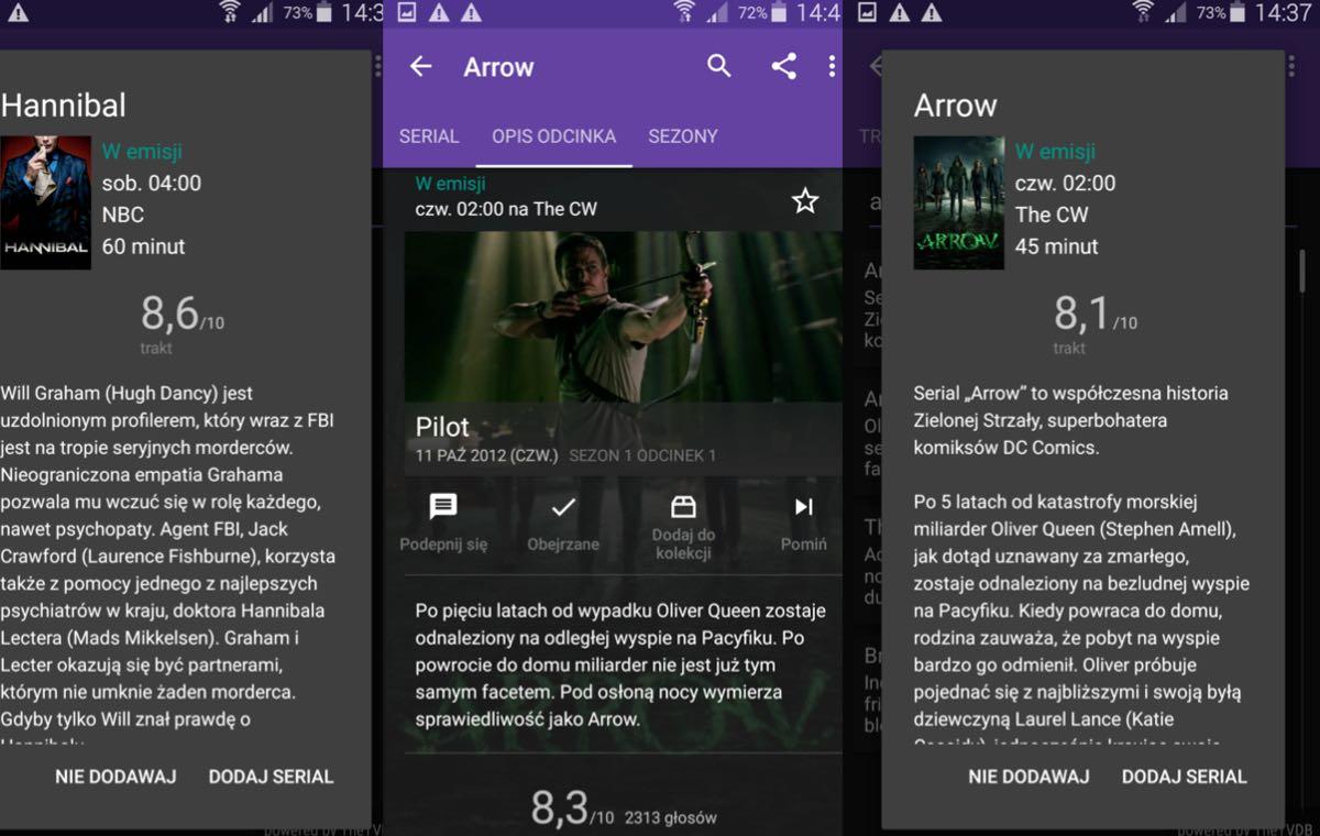Series Guide - aplikacja