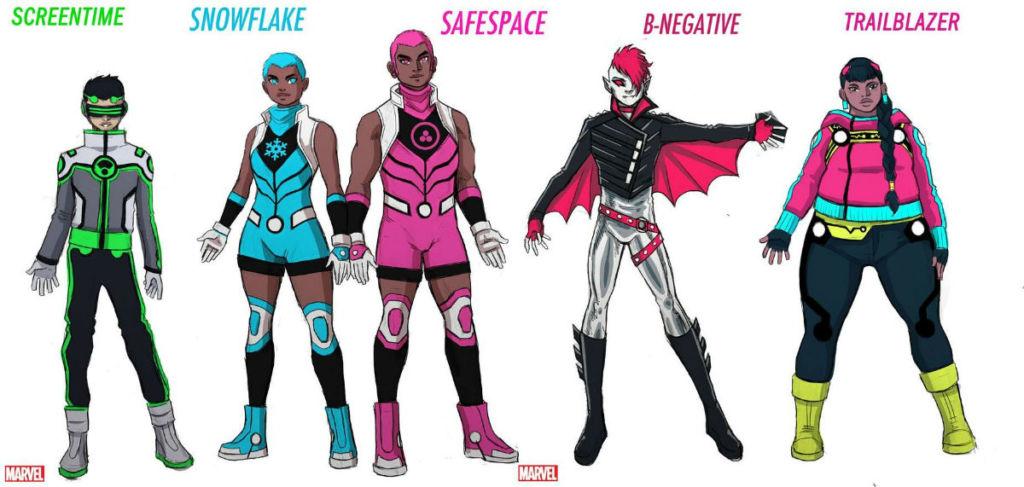 marvel new warriors snowflake safespace 2020