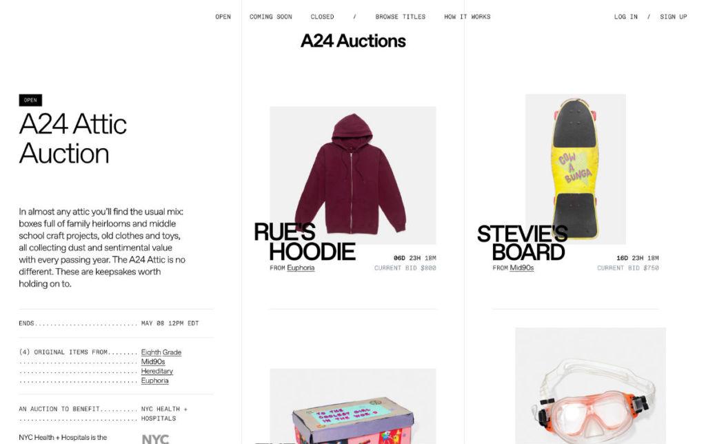 a24 attic auction