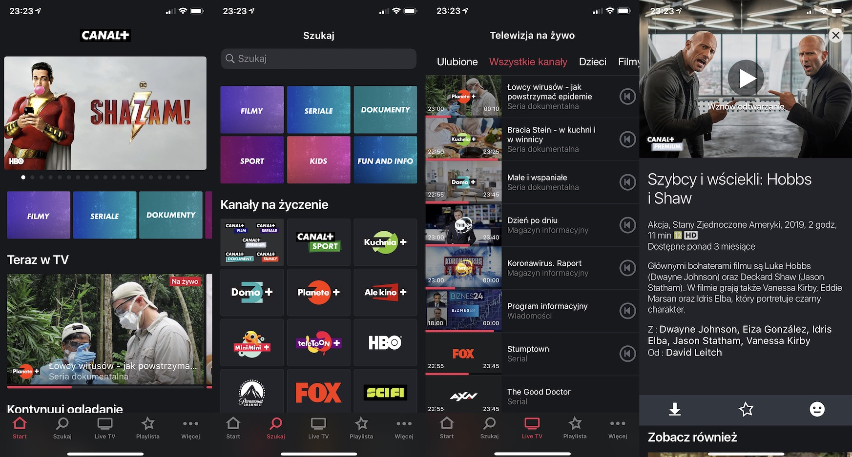 canal plus iOS iPhone App Store screenshot