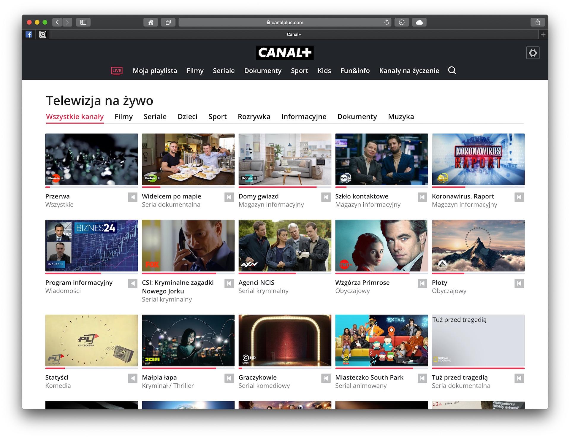 canal plus telewizja przez internet live kanaly na zywo
