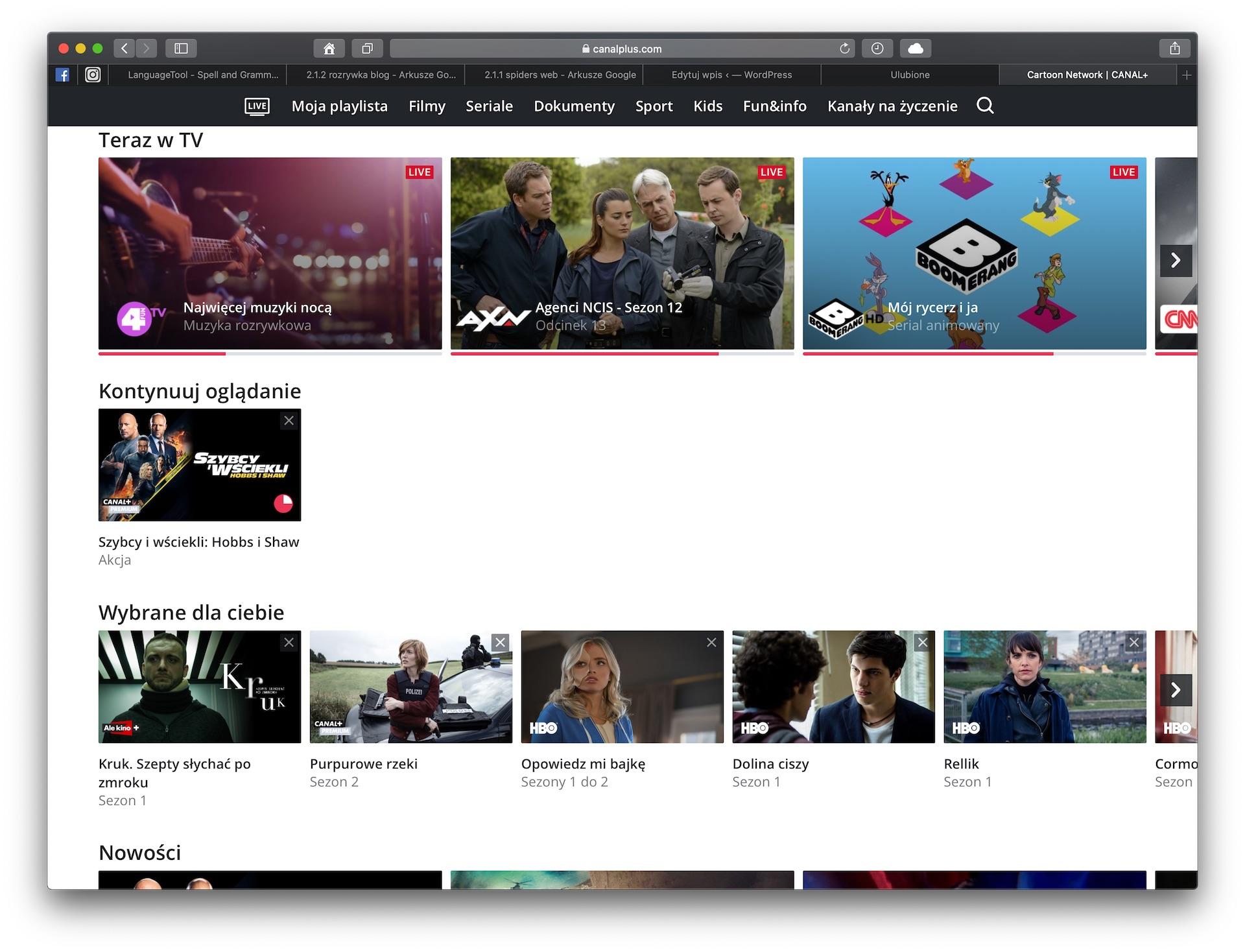 canal plus telewizja przez internet teraz w tv