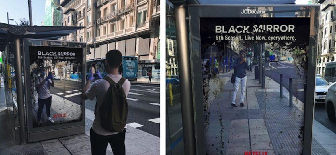 """Zdjęcie dnia: Niecodzienna kampania promująca serial Netfliksa — """"Żyjemy w Czarnym Lustrze"""""""