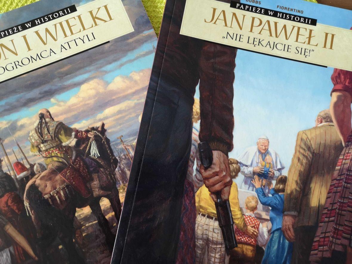 Jan Paweł II w komiksie. Obrazkowa seria opowiada o historii Kościoła, również tej brutalnej