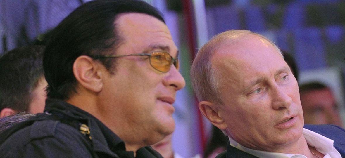 Charlize Theron krytykuje Stevena Seagala. Gwiazdor kumpluje się z Putinem i nie umie siębić