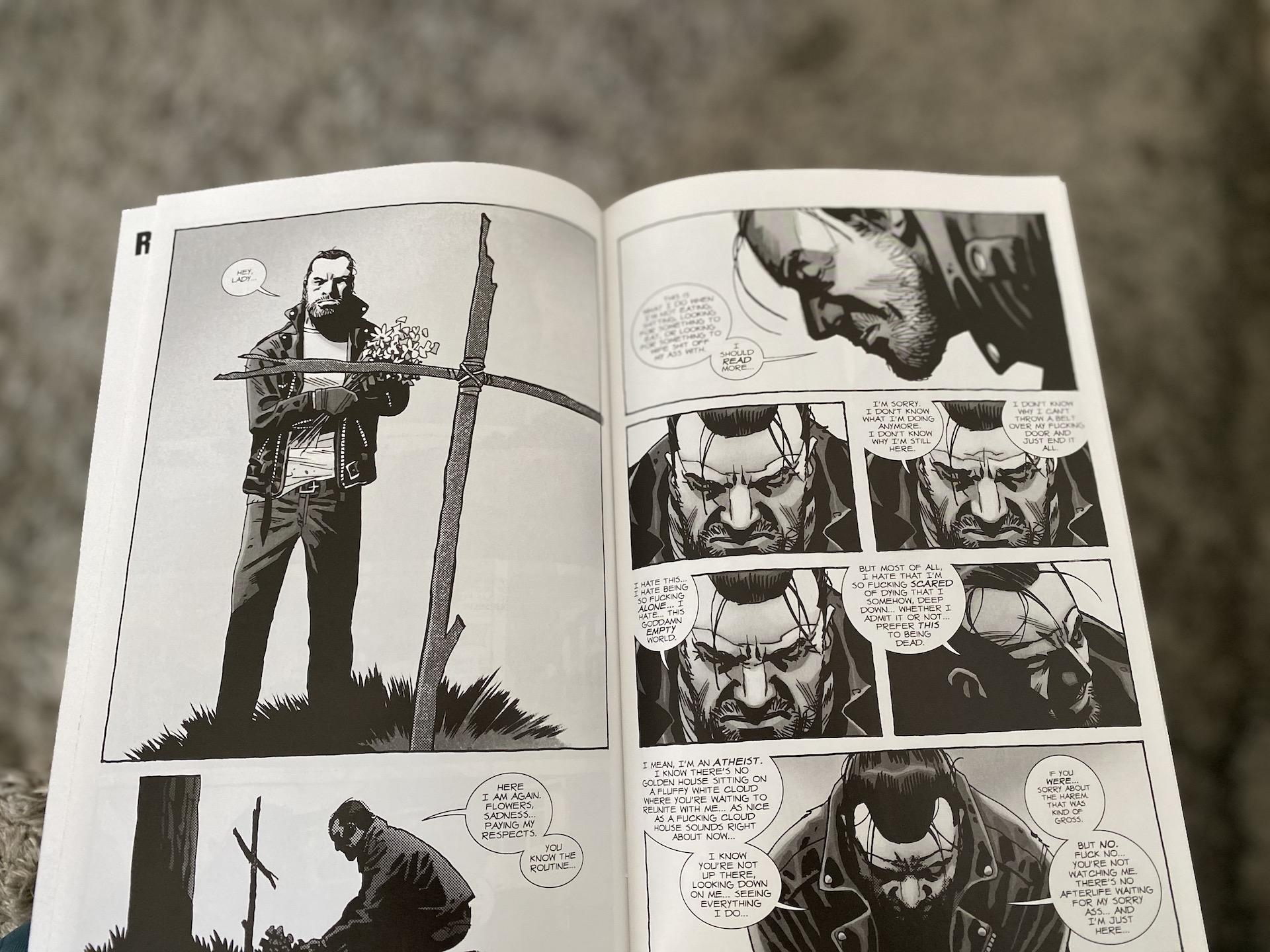 negan lives komiks the walking dead recenzja robert kirkman