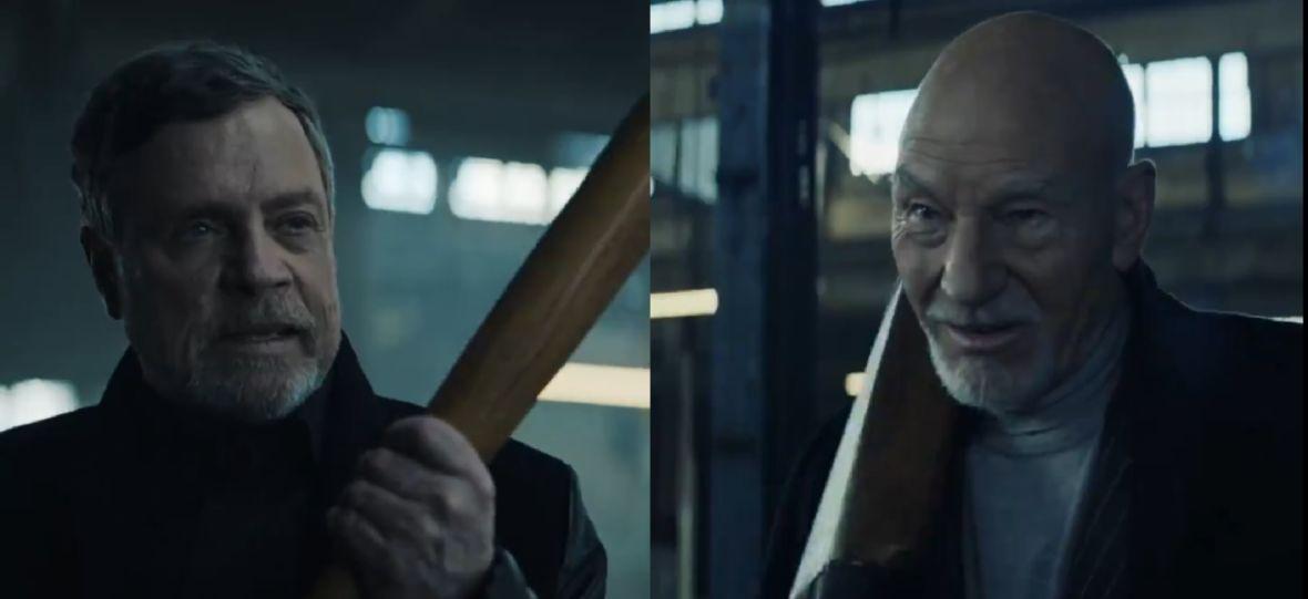 Luke Skywalker i Jean-Luc Picard walczą na jedzenie. Mark Hamill i Patrick Stewart gwiazdami kampanii reklamowej Uber Eats