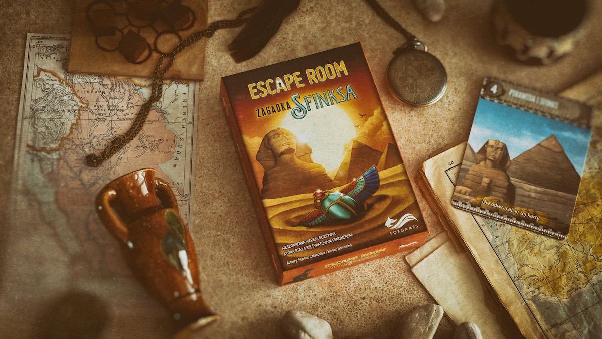 escape room zagadka sfinksa planszowka na swieta 2020 foksal
