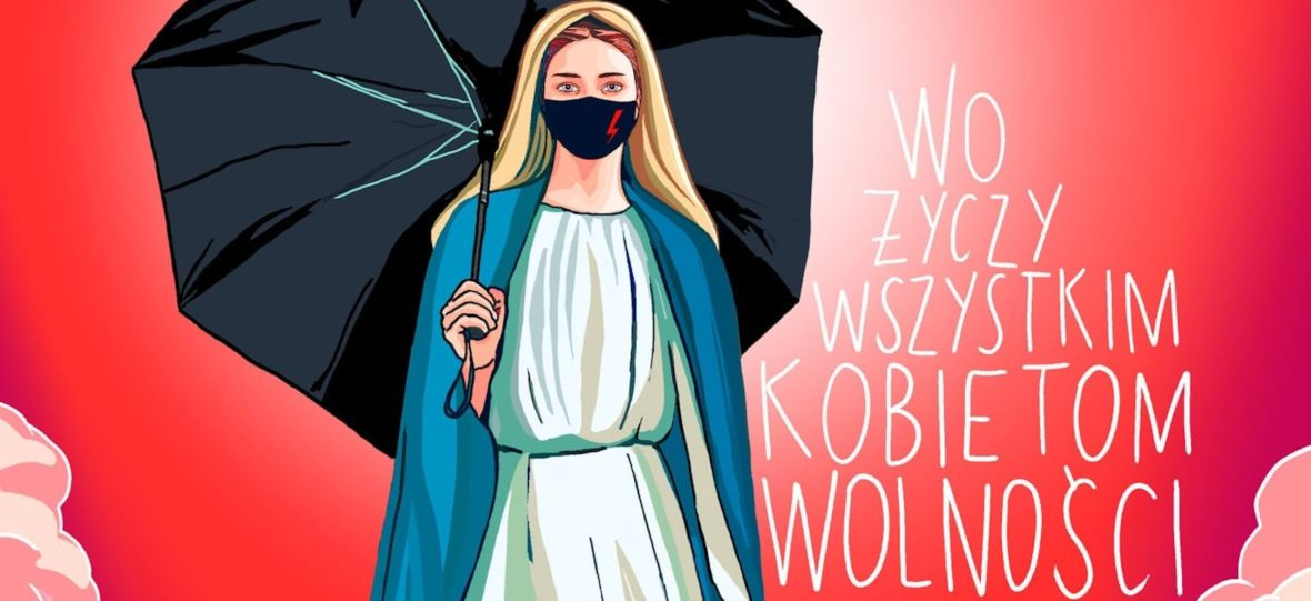 Jestem katoliczką i nie oburza mnie wizerunek Maryi w maseczce z błyskawicą
