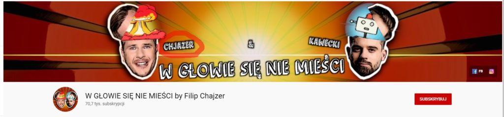 Filip Chajzer - kanał na YouTube