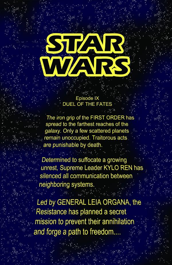 Wstęp do komiksu Duel of the Fates