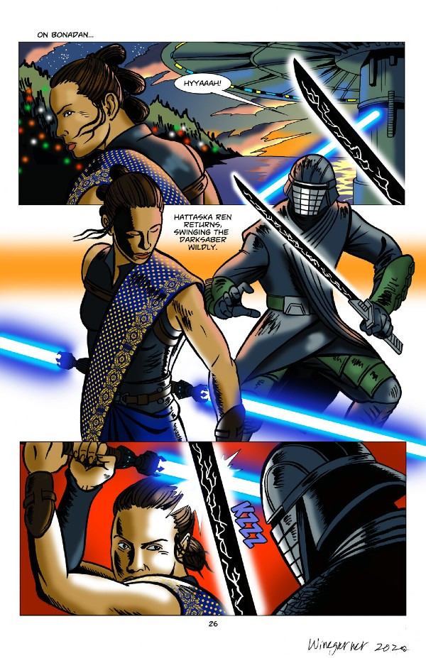 Kadr z komiksu Star Wars Duel of the Fates