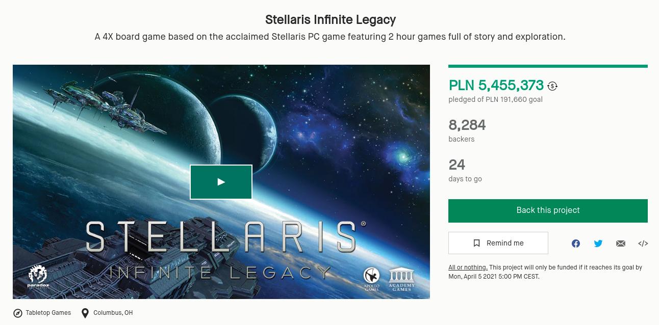 stellaris kickstarter zbiorka