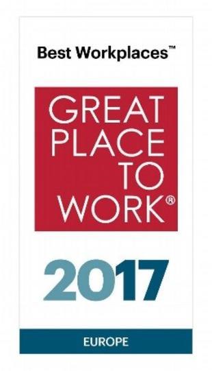 2017 – Hilti na 7. miejscu w rankingu najlepszych pracodawców w Europie