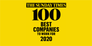 """W 2020 roku po raz 7. znaleźliśmy się na liście """"100 Best Companies To Work For"""" opracowanej przez The Sunday Times."""
