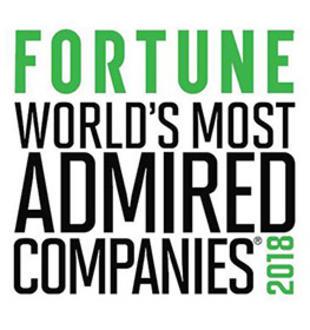 W 2018 roku znaleźliśmy się na prestiżowej liście Fortune dla Najbardziej Podziwianych Firm na Świecie. Wyróżnienie to otrzymaliśmy za nasze zaangażowanie w innowacyjność i zrównoważony rozwój.