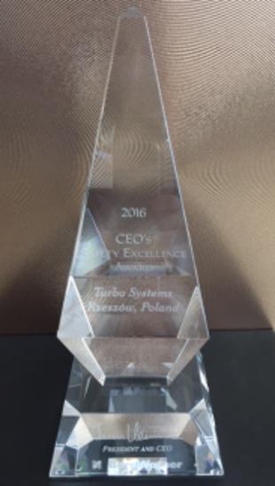 Nagroda za Działania na Rzecz Bezpieczeństwa (CEO Safety Excellence Award)