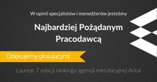 Najbardziej Pożądani Pracodawcy 2016 #3 wśród firm FMCG. Antal.