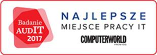 Wyróżnione miejsce pracy w IT - Konkurs zorganizowany w oparciu o badanie AudIT, przeprowadzone przez magazyn Computerworld.