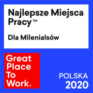 2020 – 7 miejsce w rankingu Najlepszych Miejsc Pracy dla Milenialsów