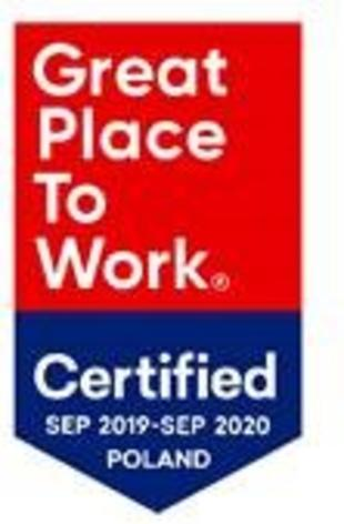 Nagroda Great place to work 2019-2020