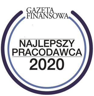 Najlepszy Pracodawca 2020 rankingu Gazety Finansowej