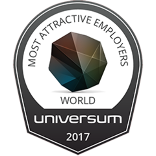 We're ranked in the top 50 world's most attractive employees for friendly atmosphere and having diversity in our workplace with respect for one another