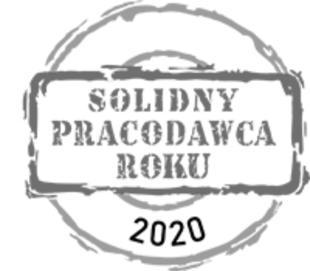 Jesteśmy Solidnym Pracodawcą 2020 (także 2019, 2018, 2017 i 2016) w uhonorowaniu kultury organizacyjnej oraz wysokich standardów pracowniczych.