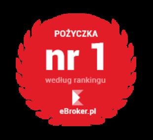 Pożyczka nr 1 wg rankingu eBroker.pl