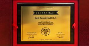 Już drugi rok z rzędu Bank Zachodni WBK został wyróżniony godłem Solidny Pracodawca Roku. Dla nas to kolejne już potwierdzenie rzetelności działania naszej organizacji, a także nagrodzenie niestandardowych rozwiązań Departamentu Rekrutacji i Rozwoju.