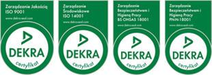 Certyfikat DEKRA
