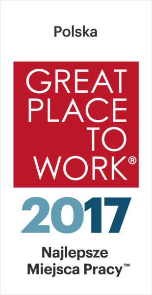 Great Place to Work 2017 - We have been honoured with the first place for creating a trustworthy workplace, based on building positive relationships with employees.