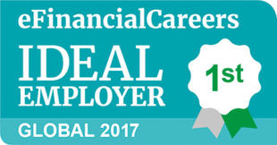 #1 - 2017 eFinancial Careers – Global List of Ideal Employers for Financial Professionals
