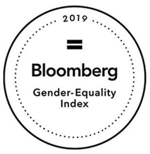 Indeks Równości Płci Bloomberg – w 2019 roku zostaliśmy drugi rok z rzędu wyróżnieni przez Bloomberg za nasze silne zaangażowanie oraz zobowiązania na rzecz równości płci.