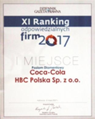 Ranking Odpowiedzialnych Firm #1 Dziennik Gazeta Prawna.