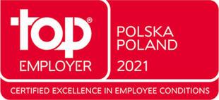 Tytuł Top Employer 2021
