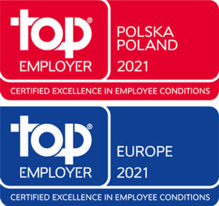 HCL Poland has been recognized as a Top Employer by the Top Employer's Institute for 2021.