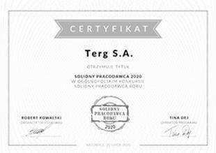 Certyfikat Solidny Pracodawca