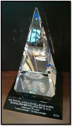 Ford World Excellence Award (Nagroda Forda za Najwyższą Jakość Produktów i Usług)