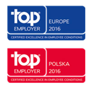Top Employer Europe 2016 & Top Employer Polska 2016