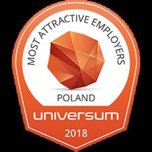 TOP 100! Znaleźliśmy się w rankingu Universum Most Attractive Employers Poland 2018 w kategorii inżynieria.