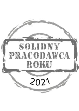 Otrzymaliśmy tytuł Solidnego Pracodawcy Roku 2021, który potwierdza wysoką dbałość o bezpieczeństwo i rozwój pracowników oraz warunki pracy.
